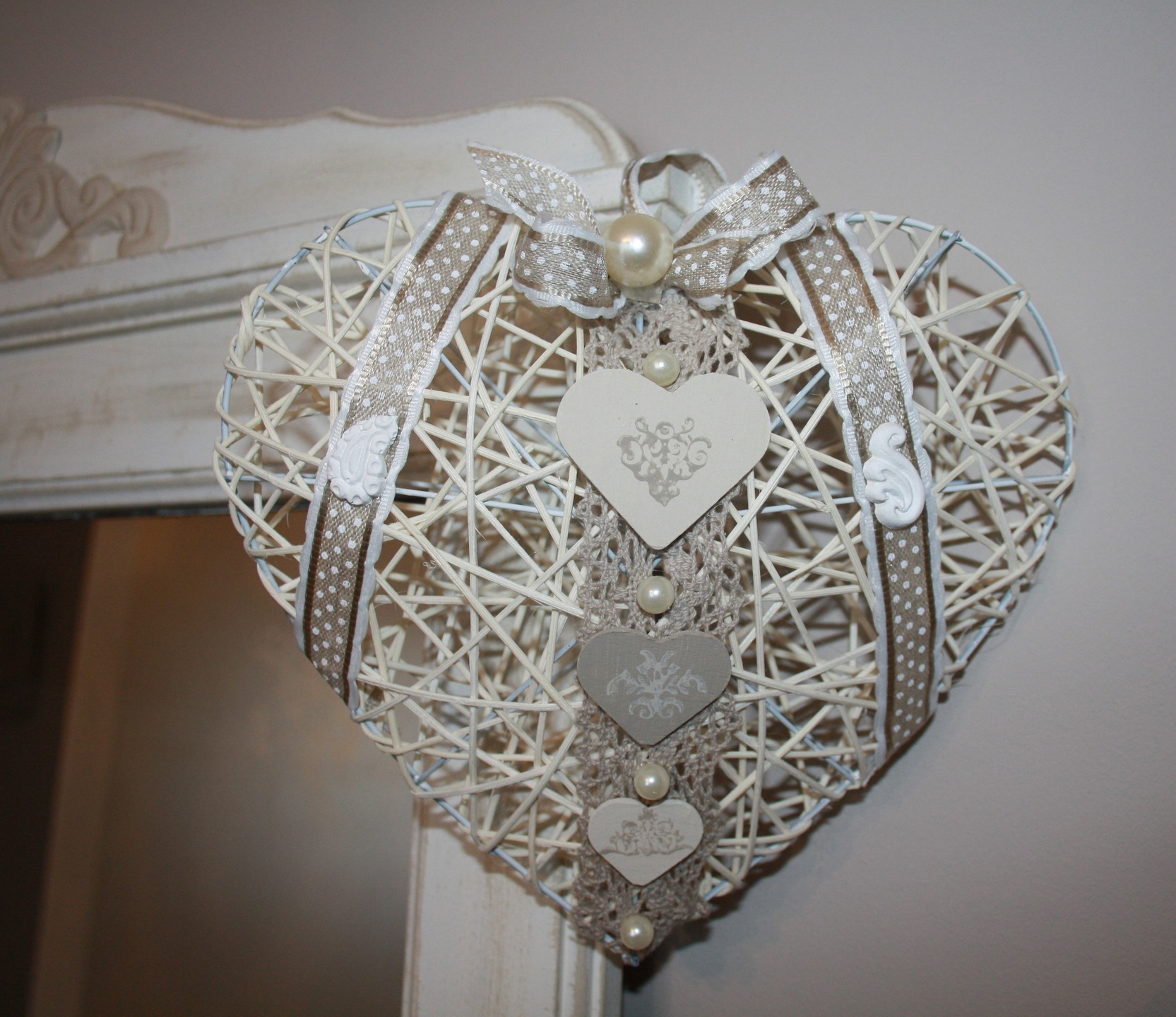 Coeur en osier le mariage - Panier decoratif osier ...
