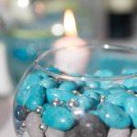 Decoration mariage bleu turquoise et gris