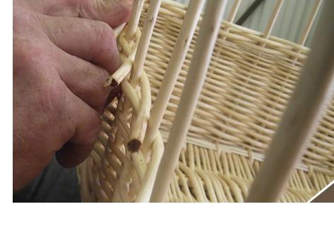 Fabrication panier osier le mariage - Fabriquer un panier a linge ...