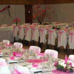 Decoration salle de mariage rose et blanc