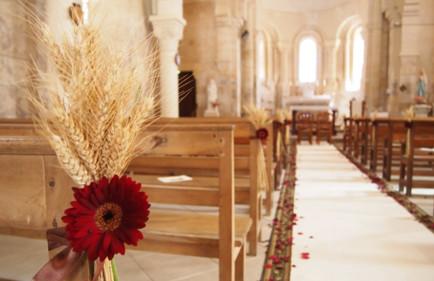 Idee decoration mariage eglise le mariage - Decoration eglise mariage ...