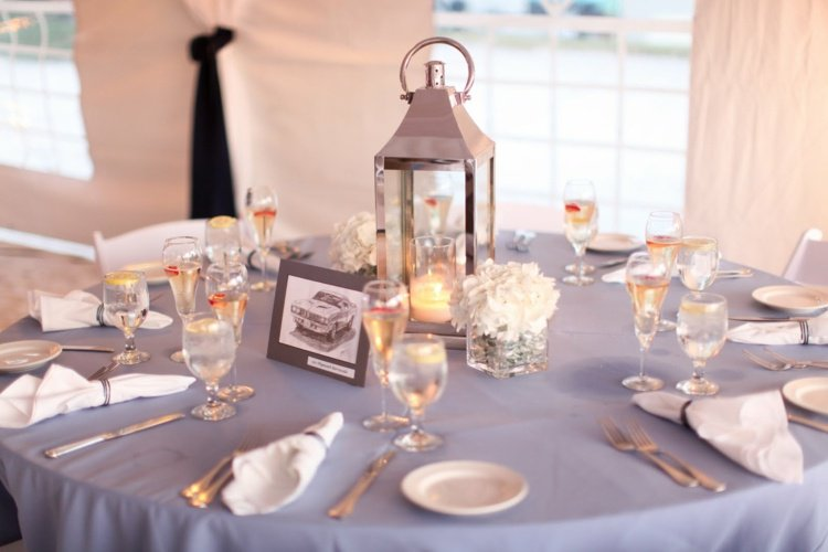 decoration table mariage simple