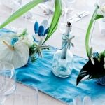 Deco mariage bleu turquoise et blanc
