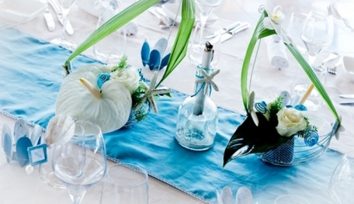 Deco mariage bleu turquoise et blanc le mariage for Deco bleu turquoise et blanc