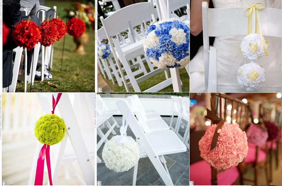 Decoration chaise mariage original le mariage - Fleur deco mariage ...