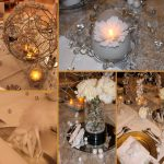 Decoration mariage blanc argent