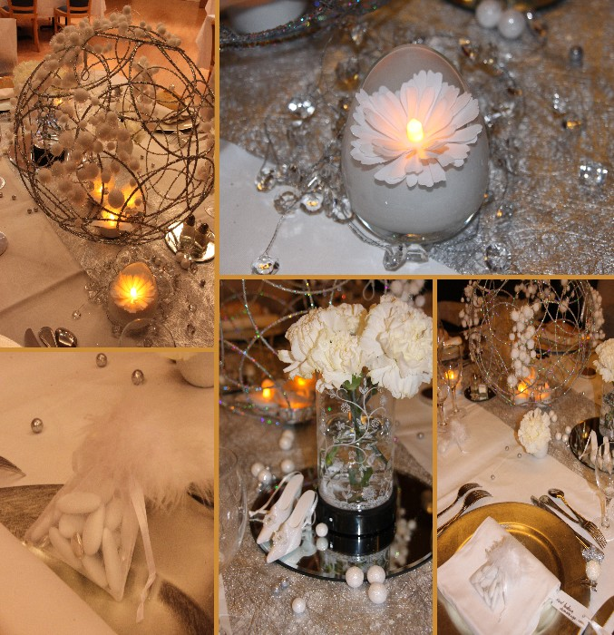 decoration mariage blanc argent le mariage. Black Bedroom Furniture Sets. Home Design Ideas