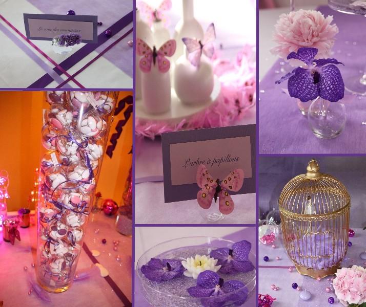 Deco mariage blanc et violet le mariage for Deco violet et gris