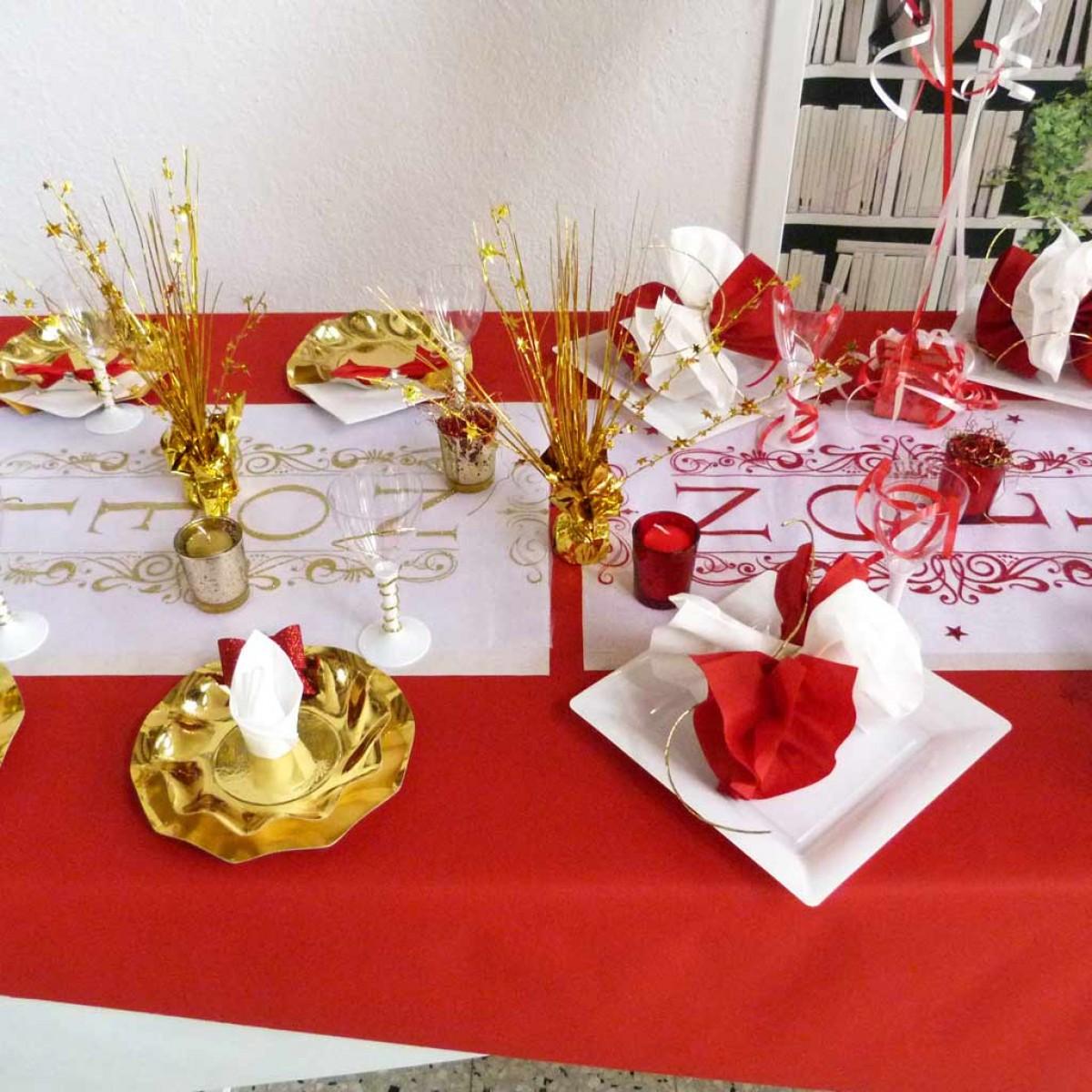 Deco mariage rouge blanc or le mariage - Decoration de table pour mariage rouge et blanc ...