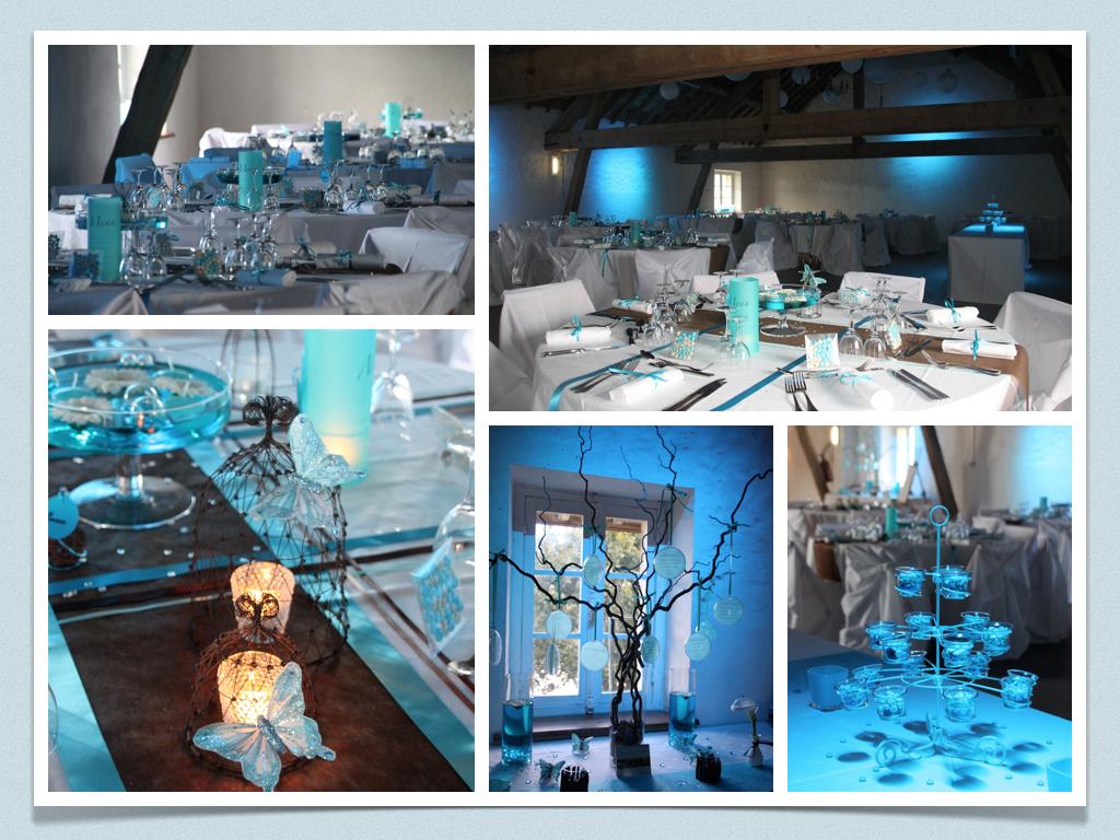 Deco mariage bleu turquoise et blanc le mariage - Objet deco bleu turquoise ...