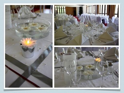 decoration mariage gris