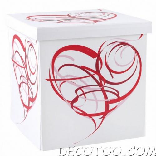urne mariage rouge et blanc le mariage. Black Bedroom Furniture Sets. Home Design Ideas